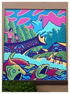 Chinook Indians panel for Alberta Art Work's BUFOR History of Alberta Project by Michael Feliz